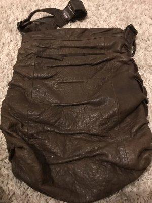 aunts & uncles Crossbody bag black brown-dark brown leather