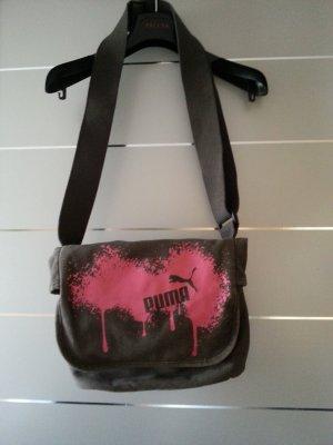 Tasche / Umhängetasche von Puma, braun - grau