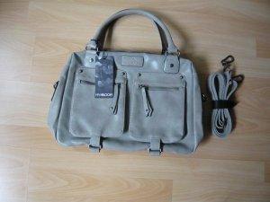 "Tasche ""USAGI"", Marke: Miya Bloom, Kunstleder, grau, mit Etikett"