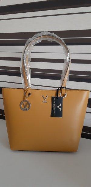 Versace Borsa con manico giallo Pelle