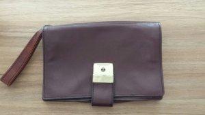Tasche Vintage Clutch rotbraun