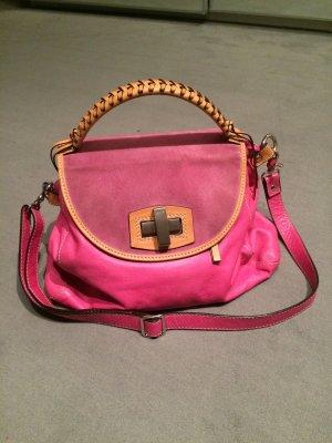 "Tasche von Abro ""Leder Cashmere Fuchsia"" pinkes Leder. Sommerliche Farbe"