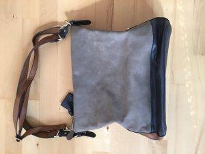 Tasche von Accessorize in dunkelblau /Beige