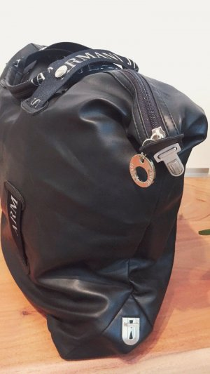 Armani Sports Bag black leather