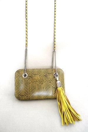 Tasche von BCBG MaxAzria in gelb mit Quaste und tollem Muster