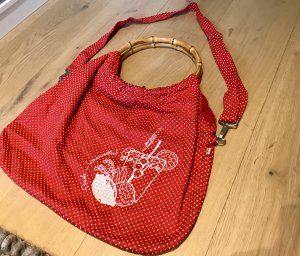 Blutsgeschwister Crossbody bag red-white