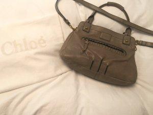 Chloé Crossbody bag beige-green grey leather