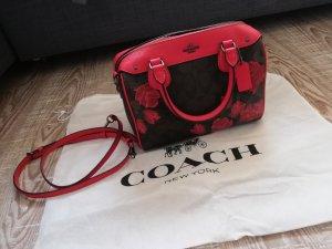 Tasche von Coach mit Rosenprint