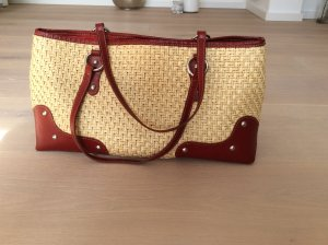 Coccinelle Carry Bag cream-brick red mixture fibre