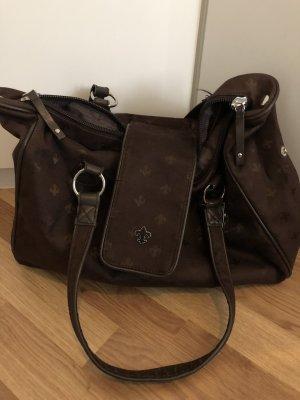 Friis & Company Schoudertas zwart bruin