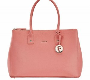 Furla Carry Bag bright red leather