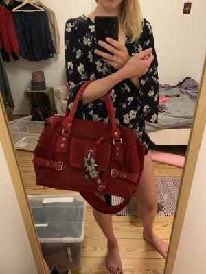 George Gina & Lucy Shopper dark red