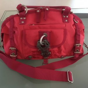George Gina & Lucy Handbag brick red polyester