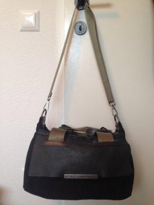 Tasche von George Gina & Lucy, schwarz/grün/dunkelbraun, so gut wie ungetragen ...