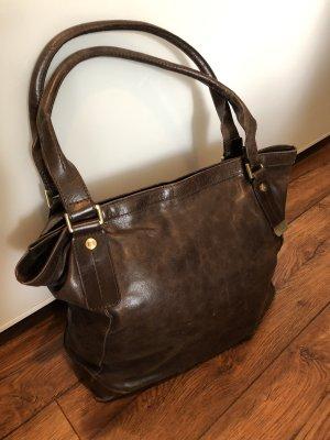 Bolso barrel marrón oscuro