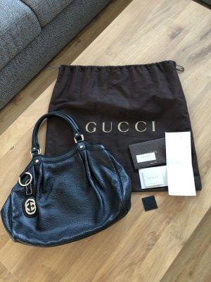 Gucci Comprador negro-color plata