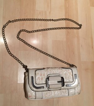 Guess Minibolso blanco-color plata