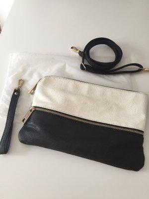 Tasche von Hallhuber schwarz/weiss/gold