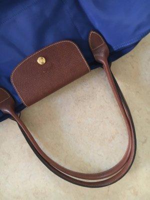 Longchamp Sac porté épaule bleu-bronze