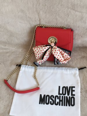 Love Moschino Bag red leather