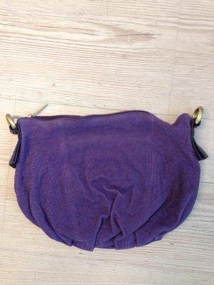 Tasche von Lupo neu lila Leder