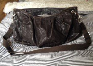 Tasche von Marc O'Polo in dunkelbraun echtes Leder