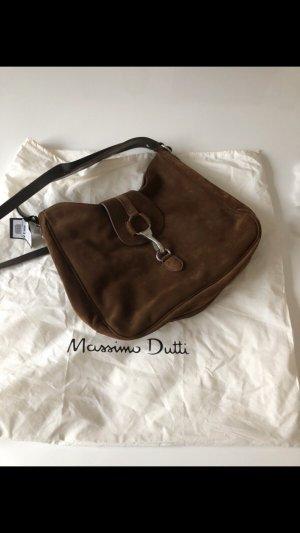 Massimo Dutti Bolso tipo marsupio marrón oscuro