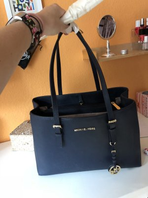 Michael Kors Carry Bag dark blue-gold-colored