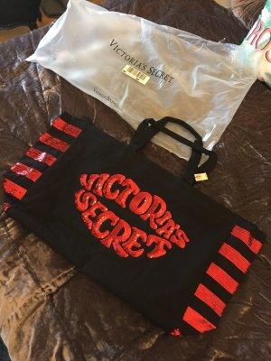 Victoria's Secret Tote black-red cotton