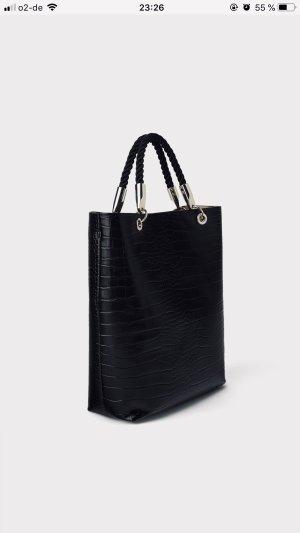 Zara Handbag black-silver-colored