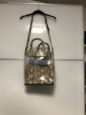 Zara Crossbody bag beige-black brown