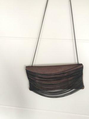 Zara Sac à main gris brun