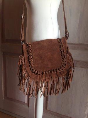 Fringed Bag brown suede