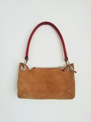 Coccinelle Carry Bag red-sand brown suede