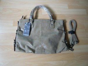 "Tasche ""YOKO CARRY-All"", Marke: Miya Bloom, Kunstleder, Farbe: sand, neu, mit Etikett"