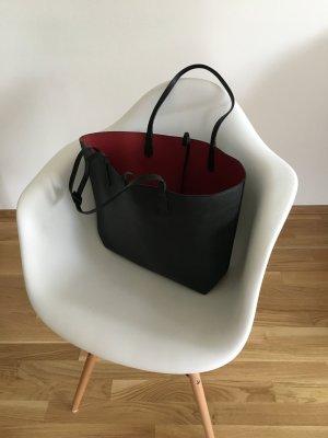 Tasche Zara wendbar schwarz rot