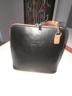 Tasche zum Umhängen, schwarz / braun, NEU, OV