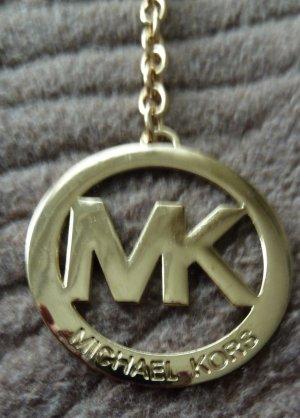 Taschen-Schlüssel Anhänger mit MK initialen goldfarben