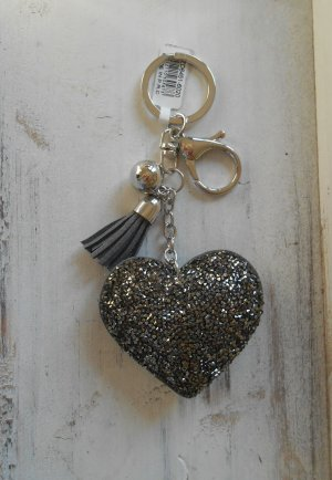 Key Chain dark grey-grey imitation leather