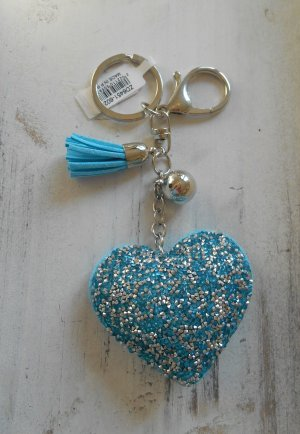 Key Chain turquoise imitation leather