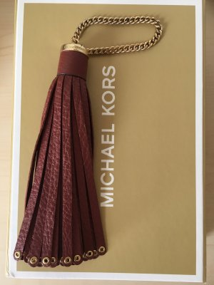 Michael Kors Porte-clés rouge carmin cuir