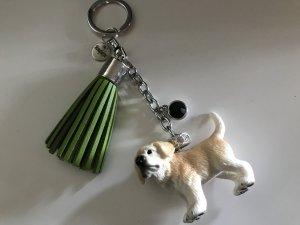 Porte-clés argenté-jaune clair