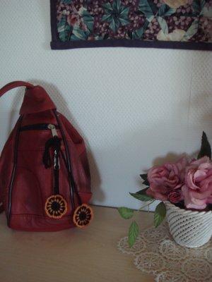Porte-clés orange-noir coton