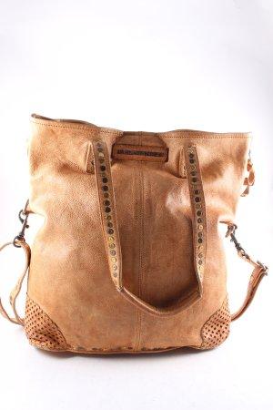Taschendieb Handtasche hellbraun Boho-Look