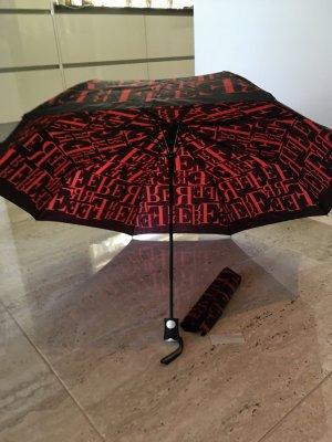Ferré Milano Ombrello pieghevole nero-rosso scuro