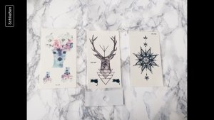 Tattoo Hirsch hipster deer set