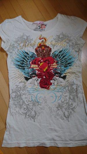 Tattoo Shirt mit Strass