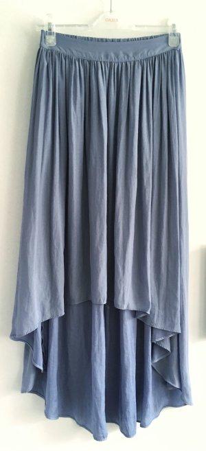 Zara Basic Jupe asymétrique bleu azur