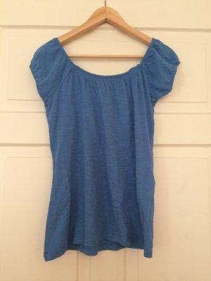 Taubenblaues Carmenshirt von Zara - ungetragen