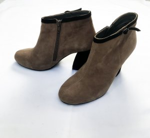 Taupage Ankle Boots/Stiefeletten in Wildleder, 40er-Style. LETZTER PREIS!